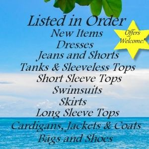 Order of Items Listed